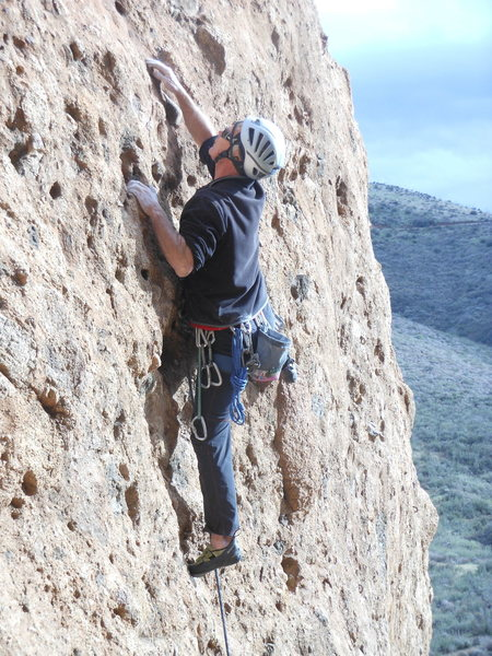 "Rock Climbing Photo: Searching for pockets on ""Urban Cowboy."""