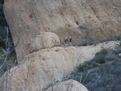 Rock Climbing Photo: Checking out the south face of the Temple of Ishta...