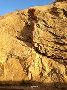Rock Climbing Photo: Beach Wall Left Center Topo