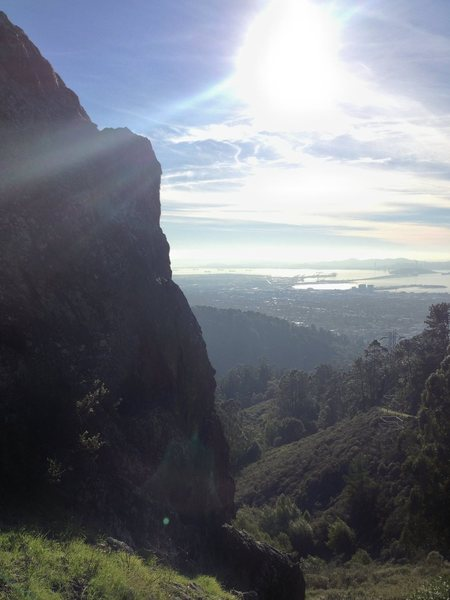 View from the side of Stoner's Cave