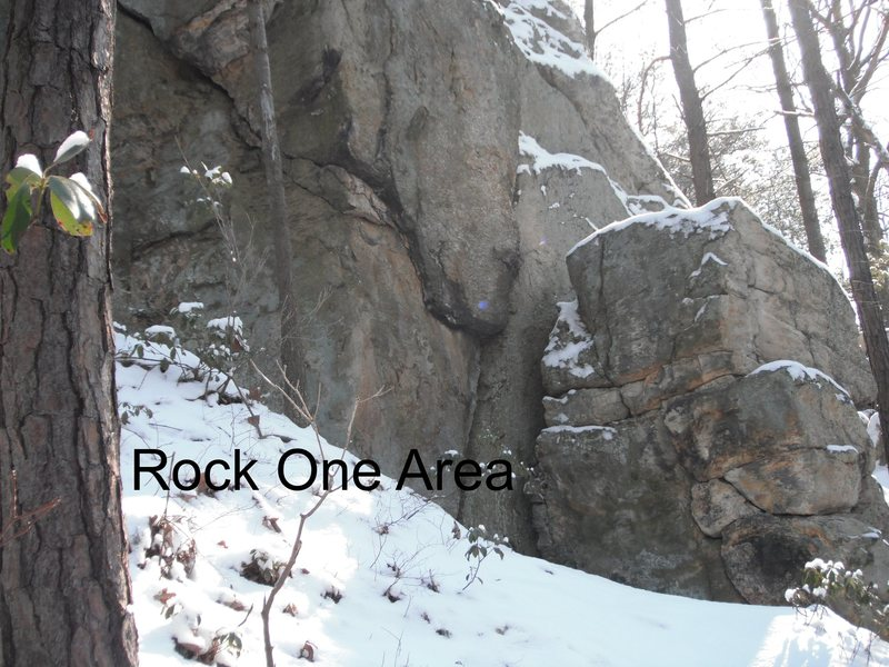Rock Climbing Photo: Northwest corner or the rock one area