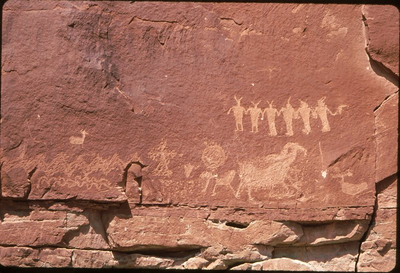 Rock Climbing Photo: Sandstone - Pictograph