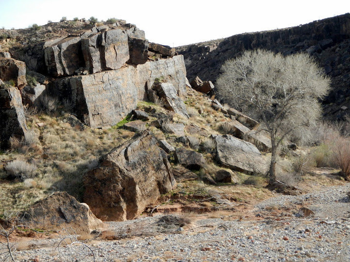 Rock Climbing Photo: Winter at Shotgun Alley