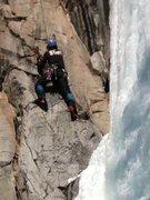 Rock Climbing Photo: Dry tooling near the shroud.