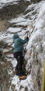 Rock Climbing Photo: mixed dry tooling start