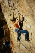 Rock Climbing Photo: My first 5.13a. Cure For The Common Crimp, Shelf R...