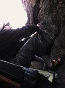 Rock Climbing Photo: Jugular(V3). Deer Creek.