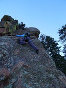 Rock Climbing Photo: Ryan starting off the E-facing portion of the rout...
