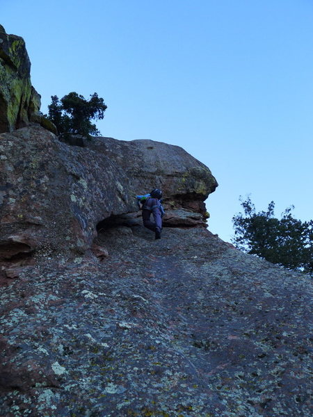 Rock Climbing Photo: The lieback.