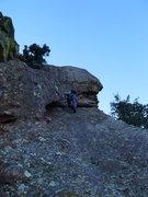 Rock Climbing Photo: The lieback.