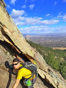 Rock Climbing Photo: Ryan on the E Face (route?).