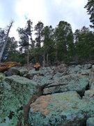 Rock Climbing Photo: The talus field.