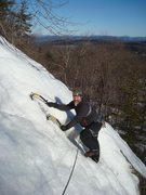 Rock Climbing Photo: Todd Paris jogs up the final feet of the first pit...