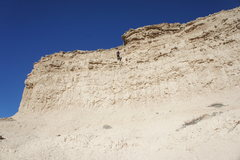 Rock Climbing Photo: Rappelling the opposite side. The anchor is 2 piec...