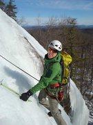 Rock Climbing Photo: Jamie McNeill single-tools up pitch one.