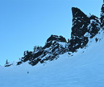 Rock Climbing Photo: Mason coming down from Pineapple Pass 1-21-13