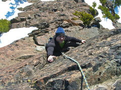Rock Climbing Photo: Mason following second pitch of South Face 5.4 in ...