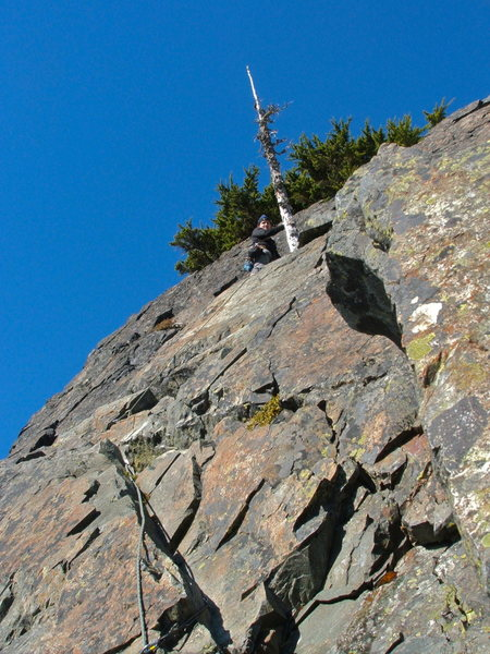 The Second Pitch of the South Face 5.4