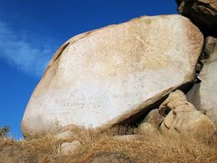 Rock Climbing Photo: The source of the name, Mt. Rubidoux