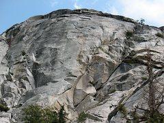 Rock Climbing Photo: West Face Bulge, Tahquitz Rock