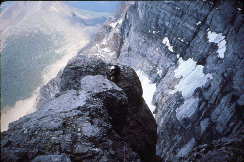 Rock Climbing Photo: High on Mt. Temple
