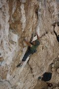 Rock Climbing Photo: Tufa pinching, crimp pulling fun