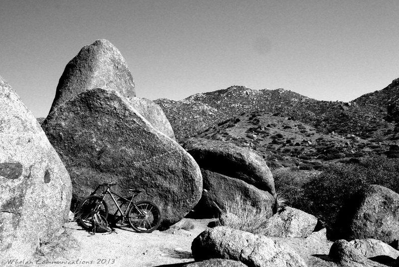 U-mound bouldering. Looking East