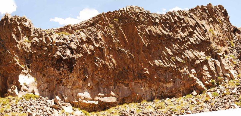 Rock Climbing Photo: Los Huasamacos del Sur Zone, First Wall.