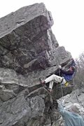 Rock Climbing Photo: Christopher Mrozowski reaching for the buckets on ...