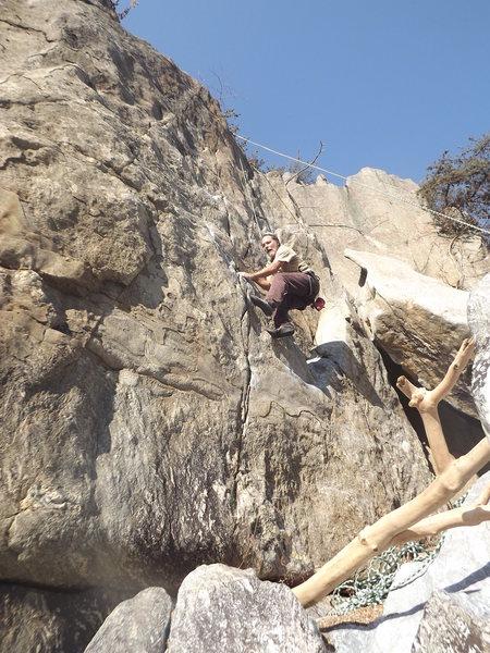 Rock Climbing Photo: Dave Rockwell on Soapstone, Spitzbergen  Photo: Jo...