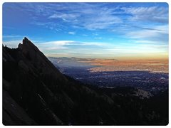 Rock Climbing Photo: Looking towards Boulder from Royal Arch.
