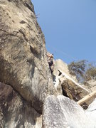 Rock Climbing Photo: Dave Rockwell on Soapstone.  The little Winter's T...