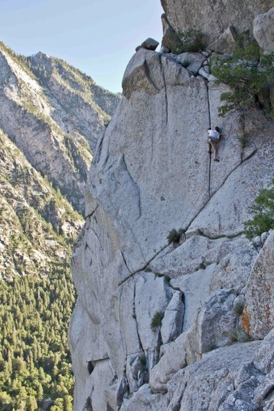 Rock Climbing Photo: Drew on the FA.