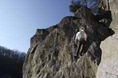 Rock Climbing Photo: A climber on Tombstone.  Photo: Dave Rockwell