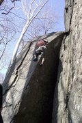 Rock Climbing Photo: Little Dave, Carderock's most bohemian and ski...