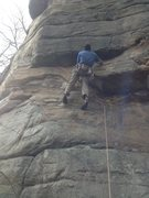 Rock Climbing Photo: Joe in the start of technarete.