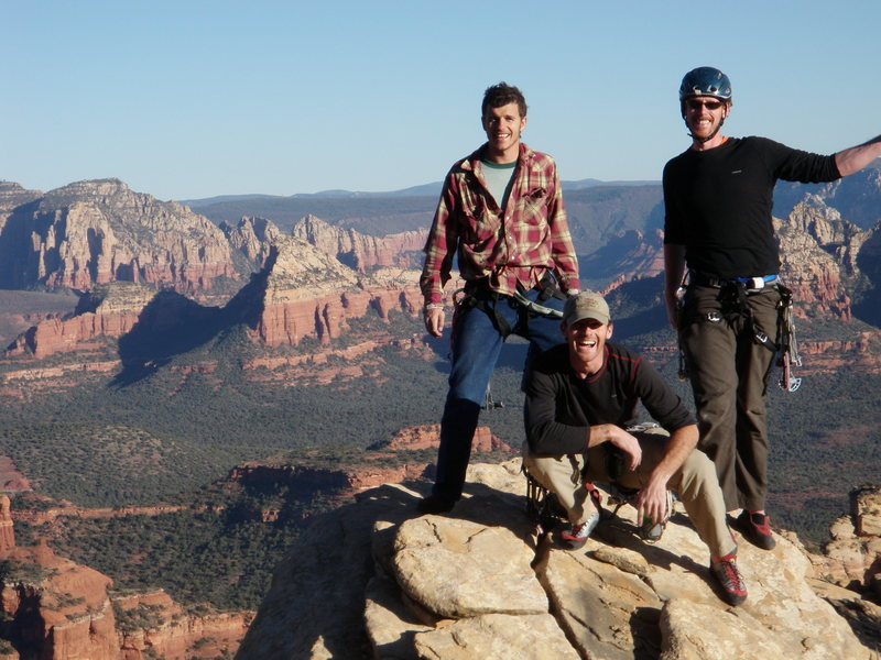 On the first full ascent, January 2010, I think.  Tony Bartoletti, Dave Spies, and Cody Ferguson
