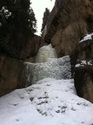 Rock Climbing Photo: Small flow just left of Hidden Falls-FAT.