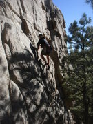 Rock Climbing Photo: Steve T. leading Are We Not Men?