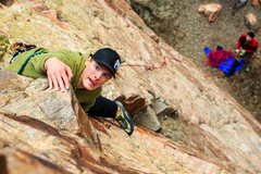 Rock Climbing Photo: Sport Leading, Rescue - 5.8 Shoshone Canyon - Wyom...