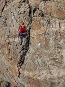 Trad Lead, Lemon-aid - 5.10a R <br />GoPro on Drone – AJ Elliston, Pilot <br />Shoshone Canyon - Wyoming <br />2013 Dave M Shumway