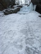Rock Climbing Photo: Looking up from the base of the route. Note that t...