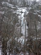 Rock Climbing Photo: From farther down the ravine. The short vertical w...