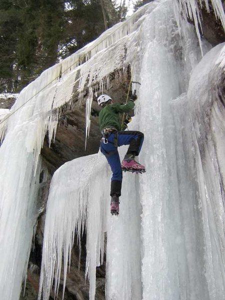 Rock Climbing Photo: Jaysen Henderson, on his 1st day ice climbing, wea...