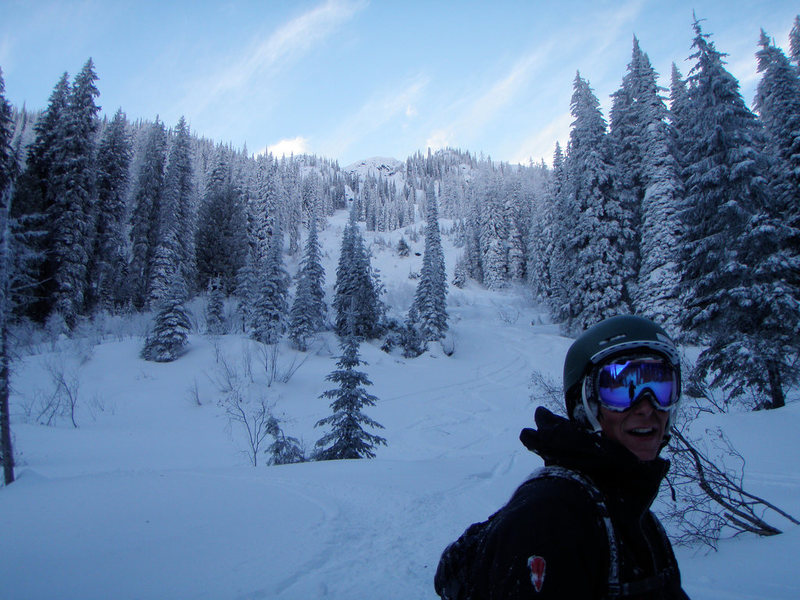 After Skiing 'Knife Edge' Mt. Roberts, Rossland B.C. on our 2011 ski trip