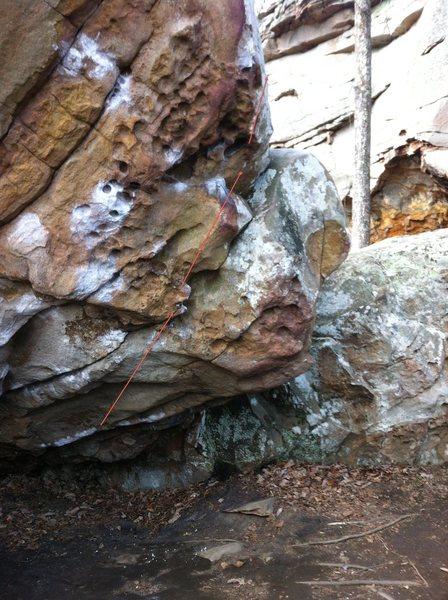 Rock Climbing Photo: Underfling