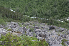 Rock Climbing Photo: Lower talus field approximately 1.5 miles north of...