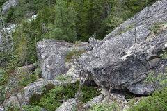 Rock Climbing Photo: lower talus field