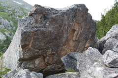 Rock Climbing Photo: This boulder is BIG.  Overhanging and about 45 foo...