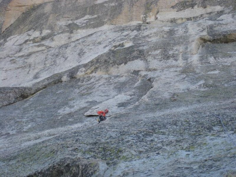 Rock Climbing Photo: Cold Belay-Crying Time